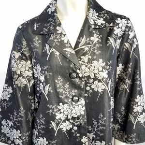 Tommy Bahama Silk Cotton Blazer Jacket Top 4/6 S